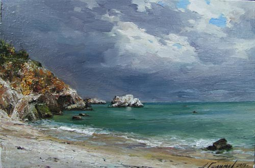 Painting by Azat Galimov Before the storm. Rusalka. Bulgaria.