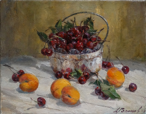Painting Azat Galimov.It's time to cherries.