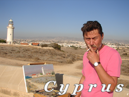 Azat Galimov. Photos from the plein air in Cyprus.