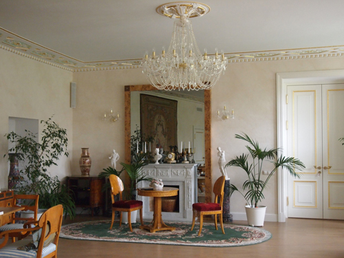 The interiors of the estate of Maryino.