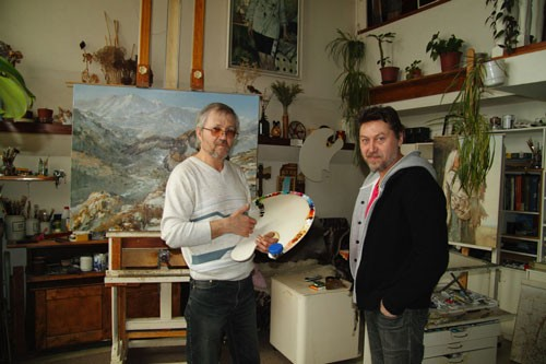 Photo. Azat GalimovIn the studio of Alexander Nemakin.
