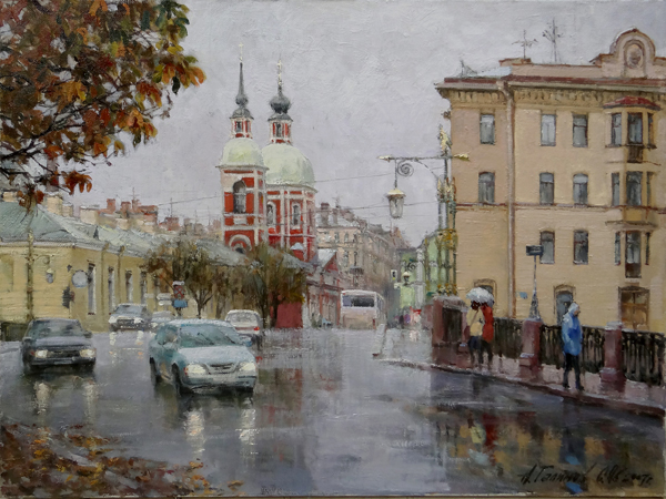 Paintings for sale by artist Azat Galimov on the theme of St. Petersburg.