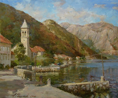Painting.Montenegro. Stoliv.