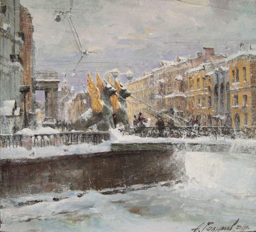 Paintings Azat Galimov. Griffins. The wind. The winter of 2010
