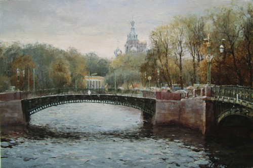 Paintings Azat Galimov.City of bridges and canals