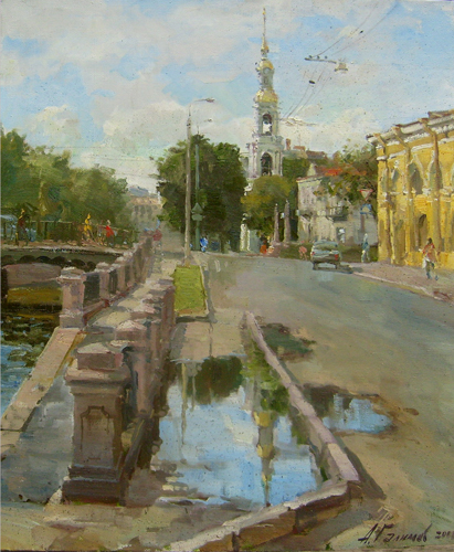 Paintings Azat Galimov.Nicholas Cathedral. After yesterday's rain