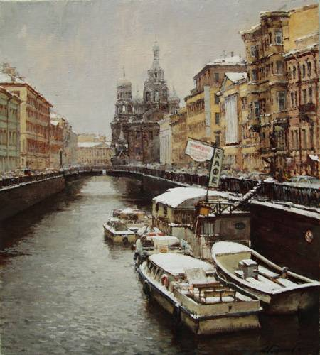Paintings Azat Galimov. Griboyedov Canal