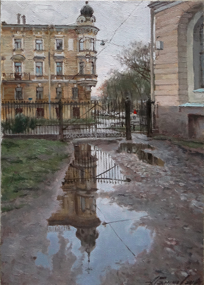 Paintings Azat Galimov.  Spring. Academic Garden.