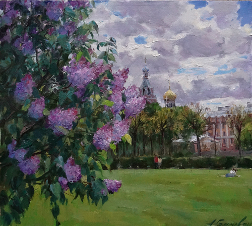 Painting Azat Galimov.Petersburg spring.