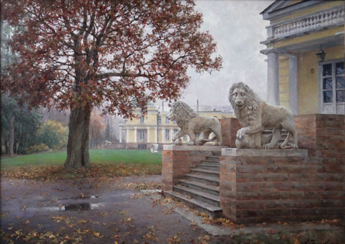 Painting Azat Galimov. The breath of autumn. Maryino.
