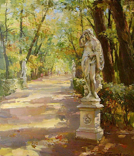 Paintings Azat Galimov.Summer Garden.