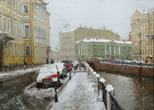 Paintings Azat Galimov.Moyka winter