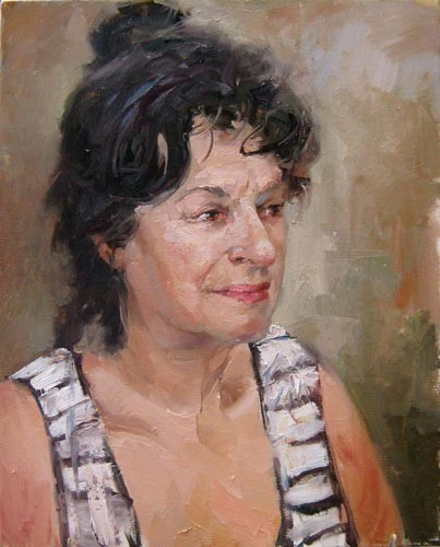 Painting A.Galimov Portrait of Tanya. Bulgaria.