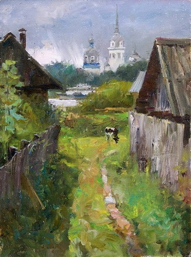 Painting Galimov Azat.New Ladoga. Calf.