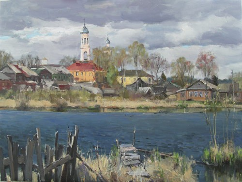 Painting Galimov Azat.Valdai. dark Water.