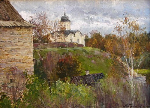 Painting Galimov Azat. Old Ladoga.