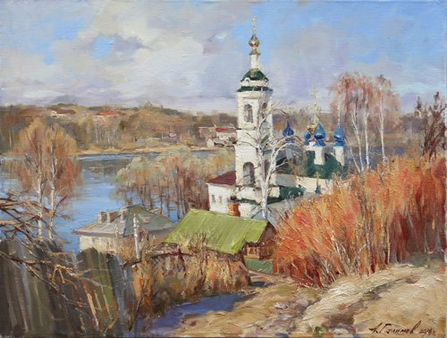 Painting Galimov Azat.Ples. Varvara Church.