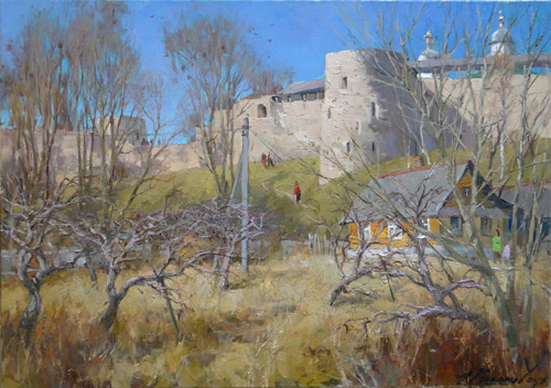 Painting Galimov Azat.Spring in Izborsk.