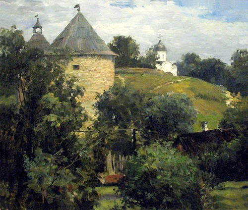 Painting Galimov Azat.Old Ladoga 2.