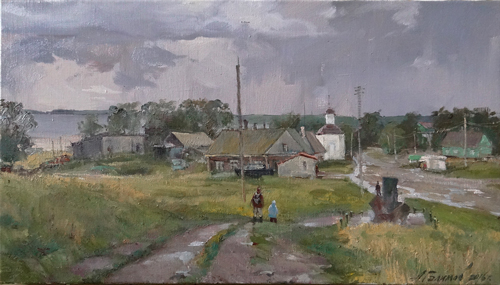 Painting Galimov Azat. Autumn weekdays. Solovki.