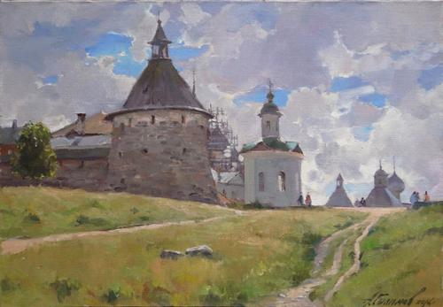 Painting Galimov Azat. The radiance of heaven. Solovki.