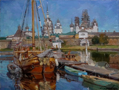 Painting Galimov Azat.  Bright day. Solovki.