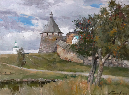Painting Galimov Azat. The Solovetsky monastery. Spinning Tower.