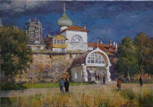 Painting Galimov Azat. Solovetsky Monastery. Holy Gates.