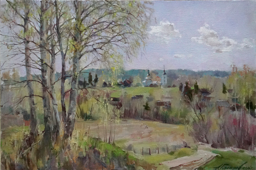 Painting Galimov Azat. Light over Yazhelbitsy. Spring. Valdai.