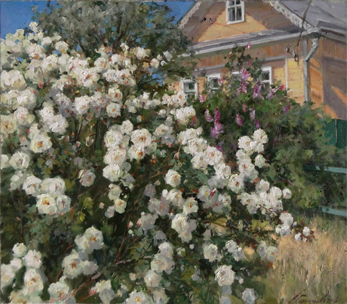 Painting Galimov Azat. Flowering. Kashin.