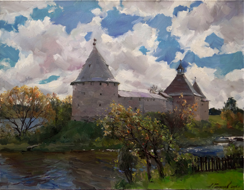 Painting Galimov Azat. Heaven. The Staraya Ladoga Fortress.