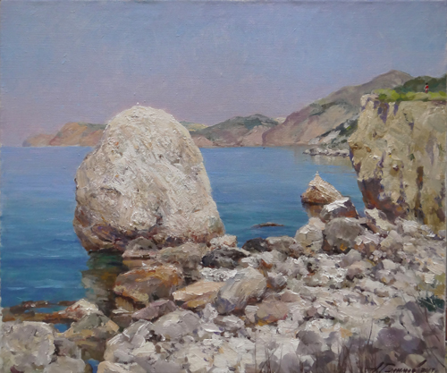 Painting Galimov Azat.Coastal stones. Cape Aya. Crimea.