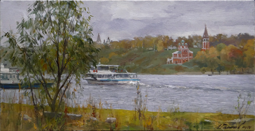 Painting Galimov Azat.On the banks of the Volga River. Tutayev.