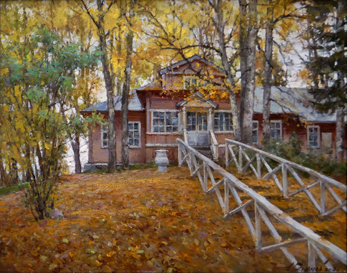 Painting Galimov Azat.Academic Dacha. Tver region.