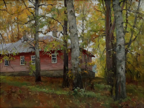Painting Galimov Azat.Mushroom time. Academic Dacha.