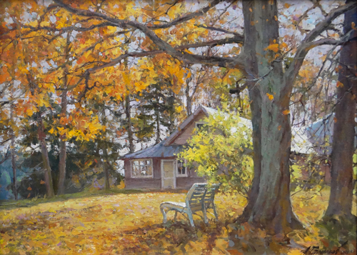 Painting Galimov Azat.The light of the golden day. Academic Dacha.