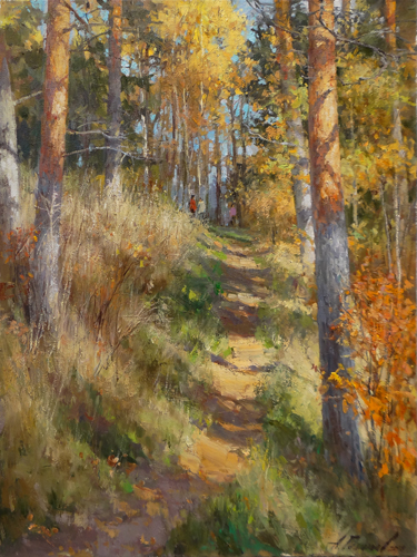 Painting Galimov Azat.Sun and pines. Vyshny Volochek.