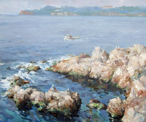 Painting Azat Galimov.Stones of the Sea of Marmara.